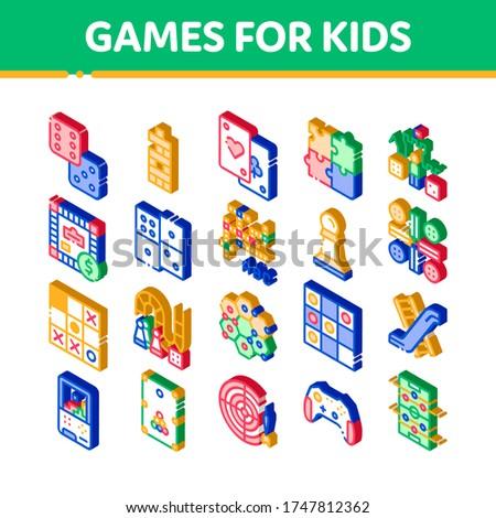 интерактивный дети игры кроссворд изометрический икона Сток-фото © pikepicture