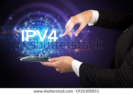 Close-up of a touchscreen with abbreviation. Stock photo © ra2studio