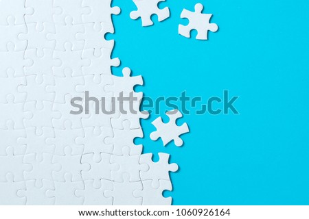 unfinished puzzle Stock photo © magann