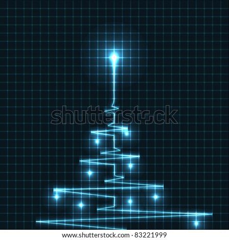 Abstrato árvore de natal coração cardiograma ilustração vetor Foto stock © orson