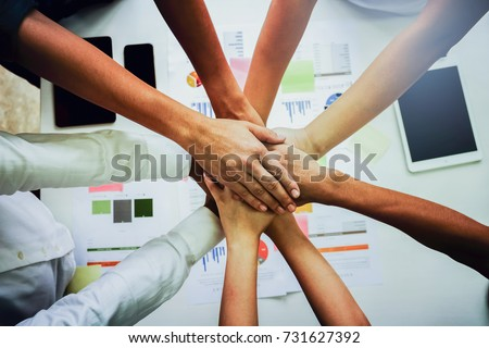 showing achievement of business success via team constructing on puzzle stock photo © experimental