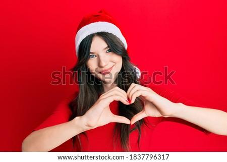 Foto d'archivio: Giovani · bella · donna · indossare · Natale · Hat