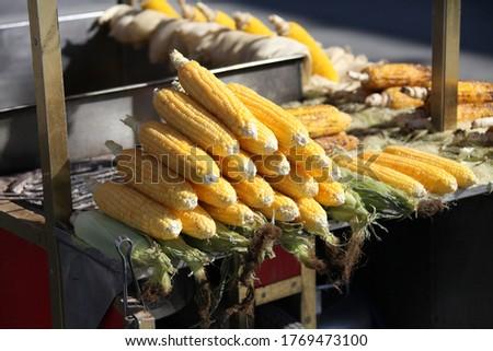 Fresh Organic Ripe Corns At A Street Market In Istanbul, Turkey. stock photo © Kuzeytac