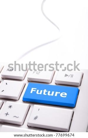 Pronóstico clave teclado inversión negocios Foto stock © fotoscool