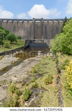 River Elan flowing in to Craig Goch reservoir, Elan Valley Wales. Stock photo © latent