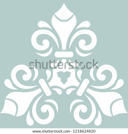 abstract floral decorative frame isolated on wite, vector illust stock photo © WaD