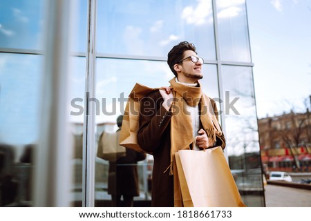 Young man walking in the store Stock photo © Andersonrise
