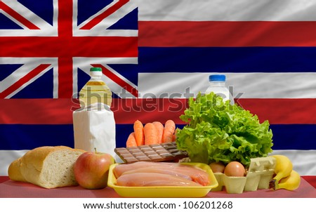 Complete Waved Flag Of American State Of Hawaii For Background Foto stock © vepar5