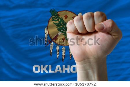 Compleet vlag amerikaanse Oklahoma geheel frame Stockfoto © vepar5
