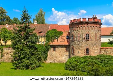 старый город укрепление чешский Чешская республика саду синий Сток-фото © Bertl123