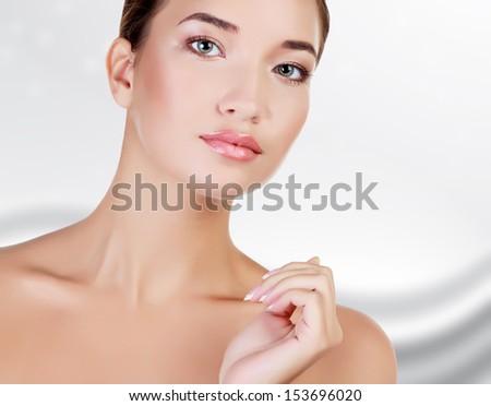 güzel · Asya · güzellik · kadın · dokunmak · mükemmel - stok fotoğraf © nobilior
