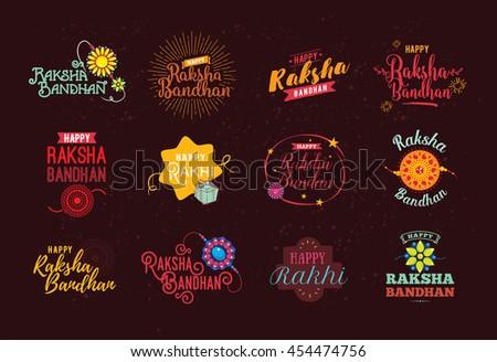 Raksha bandhan beautiful indian hindu festival colorful backgrou Stock photo © bharat