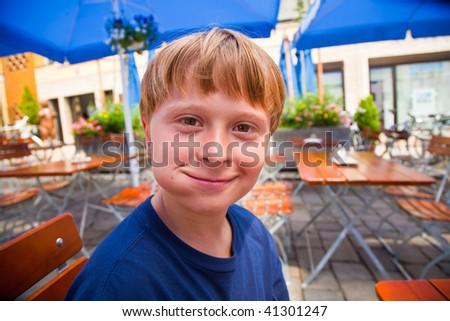 счастливым · старик · посмотреть · черный · хлеб · рот - Сток-фото © meinzahn