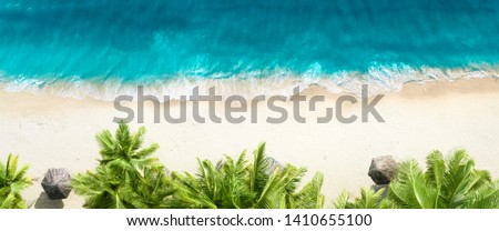 view from above to the seashore Stock photo © tarczas
