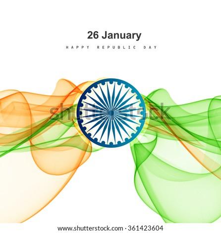 República día elegante indio bandera tricolor Foto stock © bharat