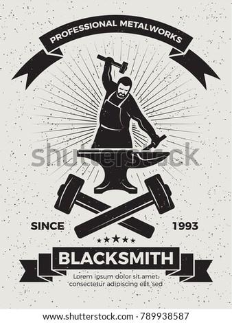 Black Smith Hammering Stock photo © rghenry