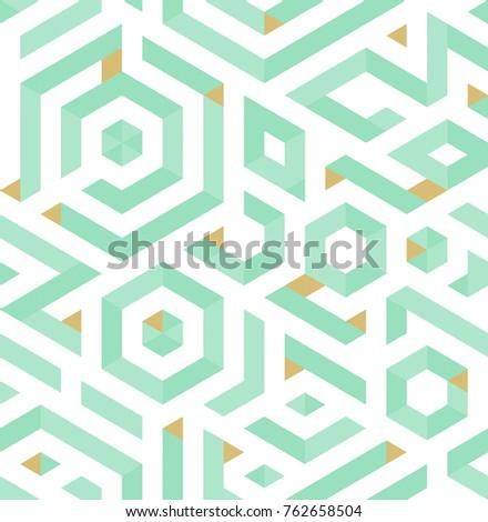 Vector seamless pattern - chaotic modern volume poligonal backgr Stock photo © pzaxe