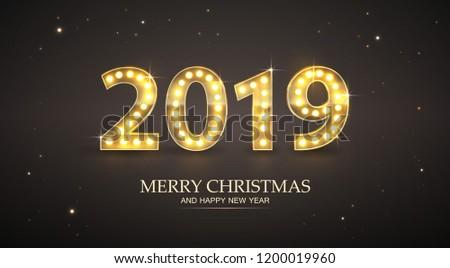 merry christmas and happy new year casino banner vector illustration stock photo © carodi