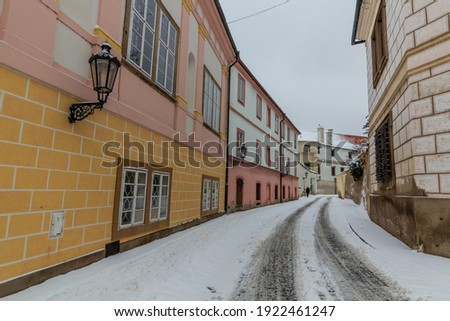 Historische architectuur straat Praag Tsjechische Republiek huis home Stockfoto © CaptureLight