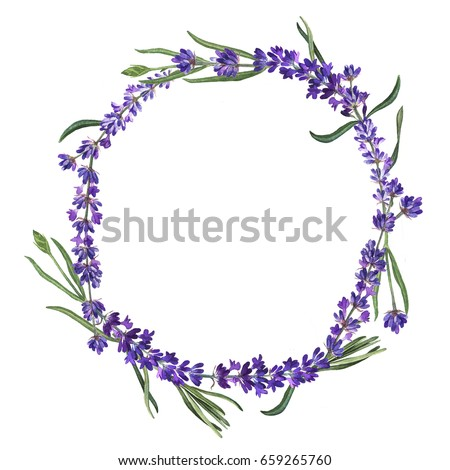 watercolor painted wedding invitation cornflower lavender sweet pea and poppy flowers pattern stock photo © mcherevan