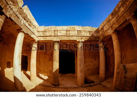 Tombs of the Kings - impressive ancient necropolis. Paphos Distr Stock photo © Kirill_M