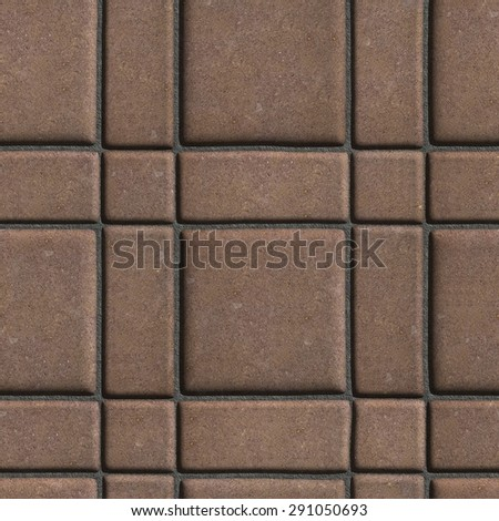 Large Quadratic Brown Pattern Paving Slabs Built of Small Squares and Rectangles. Stock photo © tashatuvango
