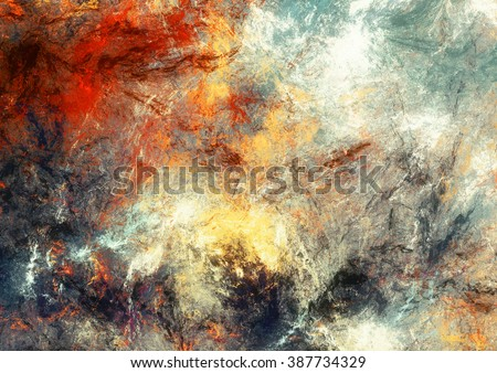 fractal illustration background frame with abstract bright glow Stock photo © yurkina