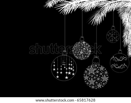 Silver Christmas Curling Ribbon Hanging from White Tree Branches Stock photo © frannyanne