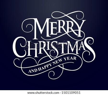 красный белый веселый Рождества типографики карт Сток-фото © wenani