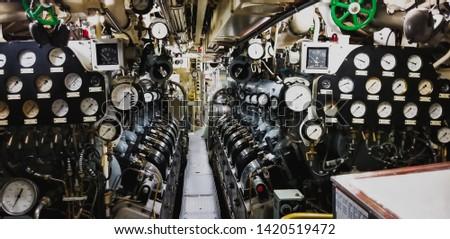 Vintage фото внутри подводная лодка старые грязные Сток-фото © michaklootwijk