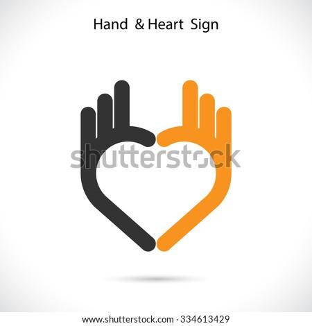 criador · mão · forma · de · coração · abstrato · logotipo - foto stock © chatchai5172