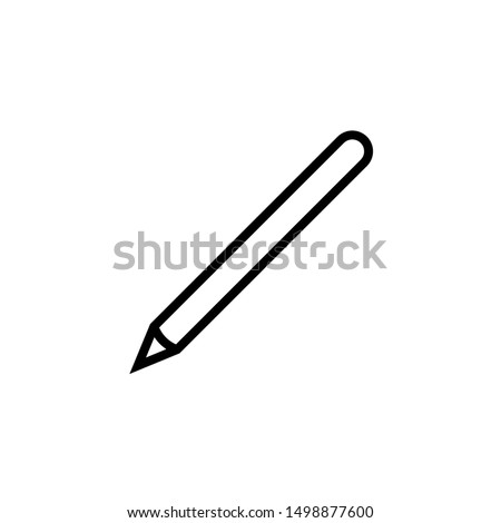 Abstrato lápis mão ícone design de logotipo vetor Foto stock © chatchai5172
