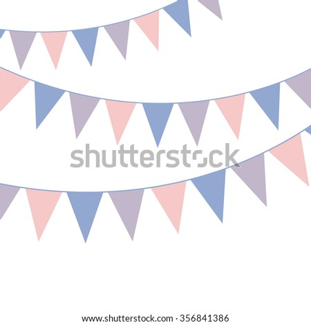 Bunting banner. Rose quarts and serenity colors. Vector illustration. Stock photo © gladiolus