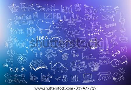 Affaires développement doodle design style Photo stock © DavidArts