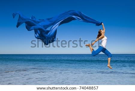 Verano disfrute feliz saltar mar Foto stock © Victoria_Andreas