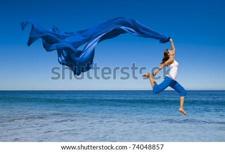 красоту · брюнетка · Тропический · остров · девушки · счастливым · моде - Сток-фото © victoria_andreas