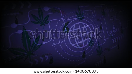 marijuana cannabis leaf symbol textured background design graphics stock photo © zuzuan