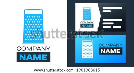 Stock photo: Grater metallic icon vector logo sign illustration. Kitchen equipment steel food cut accessory isola
