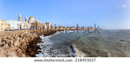 Ancient City of Cadiz on the Spanish Atlantic Coast in Andalusia Stock photo © jirivondrous