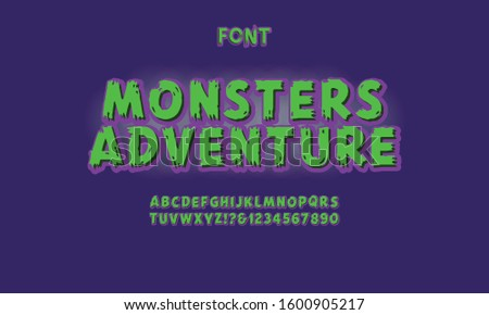 Vintage Happy Halloween. Trick or treat. Typographic Design Vector Background and Pumpkin Stock photo © khabarushka