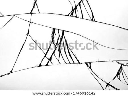 Stłuczone szkło kilka pęknięcia przezroczysty placu ilustracja Zdjęcia stock © Evgeny89