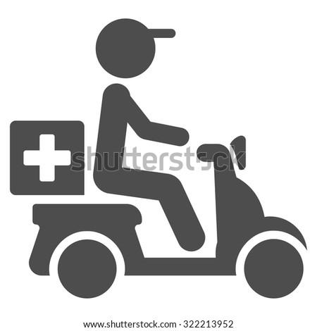 Drugs Motorbike Delivery Icon stock photo © ahasoft