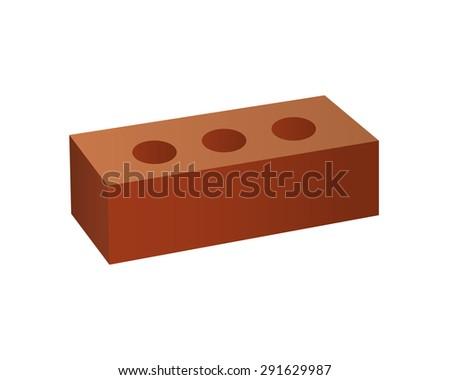 Just Brick icon. You can use it as logo template - add text, label, badge or create your own design. Stock photo © JeksonGraphics