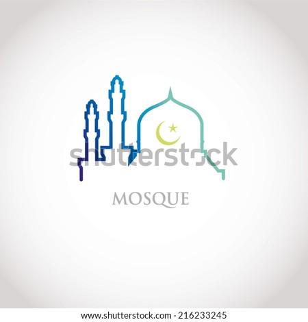 красочный линия дизайна синий мечети Сток-фото © kkunz2010