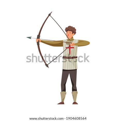 battle crossbow and bow medieval stock vector illustration stock photo © konturvid
