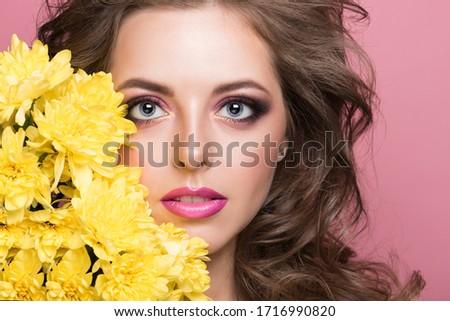 Bela mulher moda make-up penteado como egípcio Foto stock © artfotodima