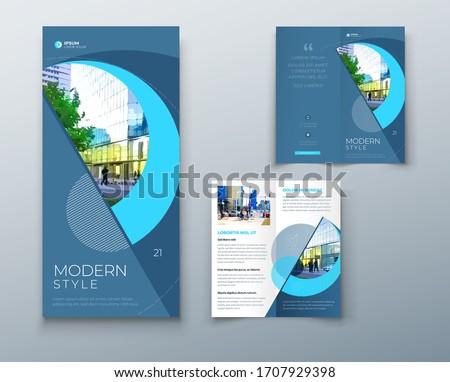 şık broşür tanıtım broşür şablon dizayn Stok fotoğraf © SArts