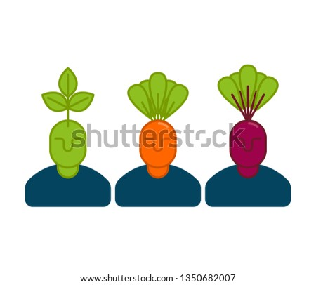 Office vegetables managers. Carrots and beets. set of office sta Stock photo © popaukropa