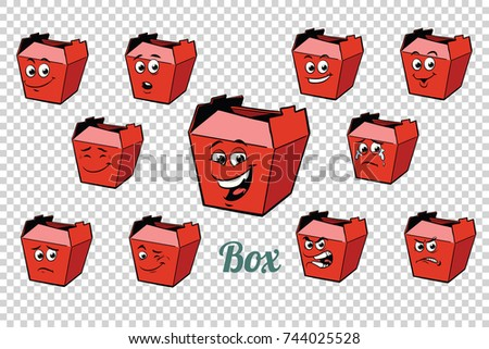 fastfood and candy packing emotions characters collection set Stock photo © rogistok