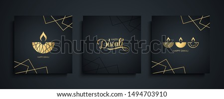 luxury diwali festival greeting background with decorative eleme stock photo © SArts